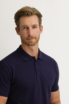 Erkek Giyim - KOYU MOR 3X Beden Polo Yaka Regular Fit Tişört