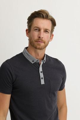 Erkek Giyim - SİYAH XXL Beden Polo Yaka Slim Fit Tişört