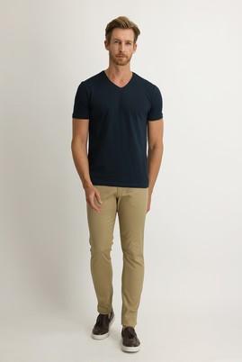 Erkek Giyim - AÇIK CAMEL 50 Beden Slim Fit Kuşgözü Spor Pantolon