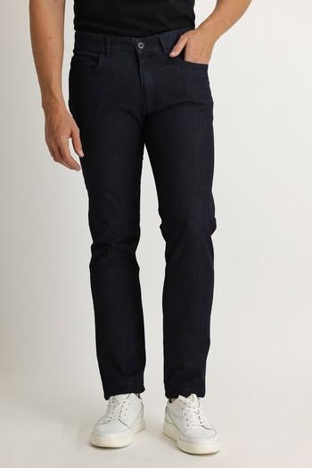 Erkek Giyim - Slim Fit Denim Look Pantolon