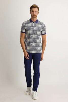 Erkek Giyim - AÇIK MAVİ 50 Beden Slim Fit Denim Look Pantolon