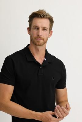 Erkek Giyim - SİYAH 3X Beden Polo Yaka Regular Fit Tişört