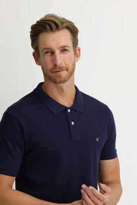 Erkek Giyim - ORTA LACİVERT XL Beden Polo Yaka Regular Fit Tişört