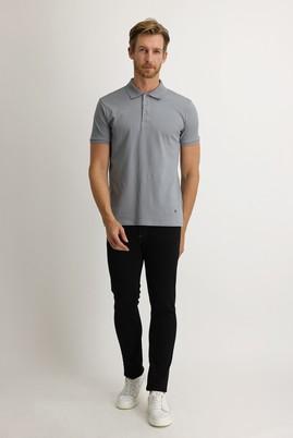 Erkek Giyim - SİYAH 50 Beden Slim Fit Denim Pantolon