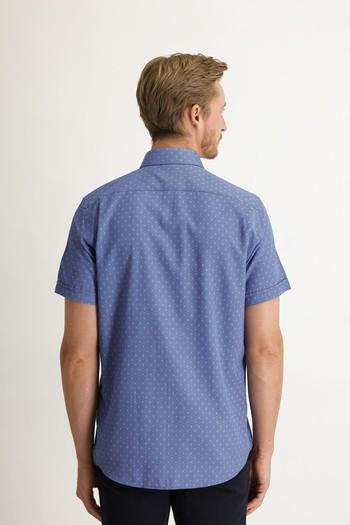 Erkek Giyim - Kısa Kol Regular Fit Desenli Gömlek