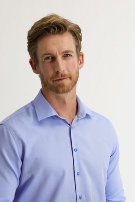 Erkek Giyim - AÇIK MAVİ S Beden Uzun Kol Slim Fit Gömlek