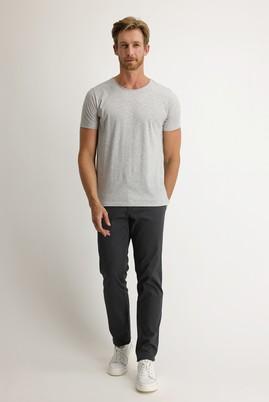 Erkek Giyim - AÇIK ANTRASİT 52 Beden Kuşgözü Spor Pantolon