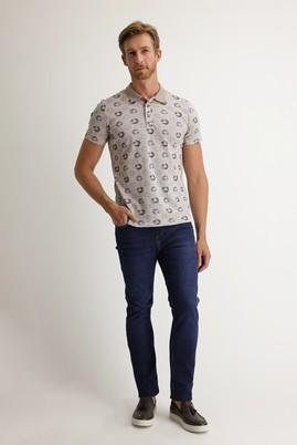 Erkek Giyim - KOYU MAVİ 46 Beden Slim Fit Denim Pantolon