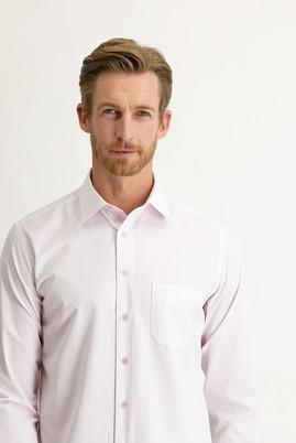 Erkek Giyim - PEMBE XXL Beden Uzun Kol Desenli Klasik Gömlek