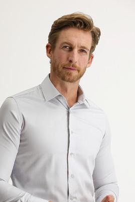 Erkek Giyim - ORTA GRİ XS Beden Uzun Kol Slim Fit Non Iron Gömlek