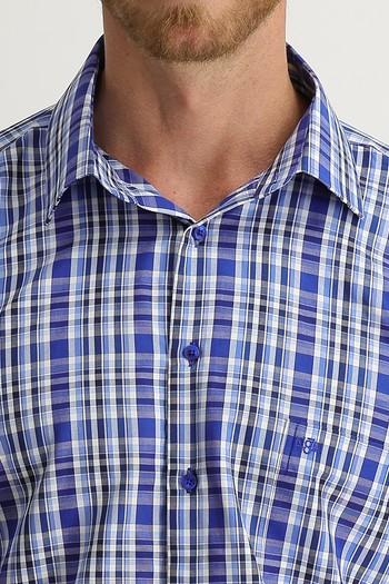 Erkek Giyim - Uzun Kol Regular Fit Ekose Gömlek