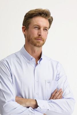 Erkek Giyim - AÇIK MAVİ 4X Beden Uzun Kol Regular Fit Oxford Gömlek