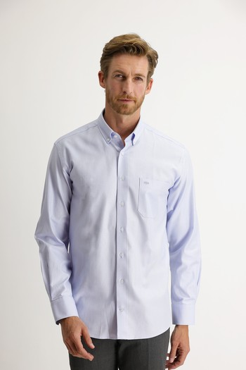Erkek Giyim - Uzun Kol Regular Fit Oxford Gömlek