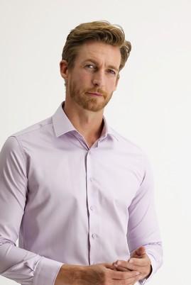 Erkek Giyim - LİLA S Beden Uzun Kol Slim Fit Non Iron Gömlek