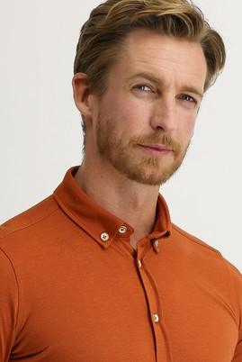 Erkek Giyim - KİREMİT L Beden Polo Yaka Gömlek Tişört