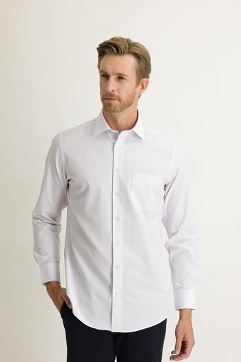 Erkek Giyim - Uzun Kol Çizgili Klasik Gömlek