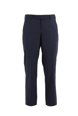 Erkek Giyim - ORTA LACİVERT 48 Beden Slim Fit Klasik Pantolon