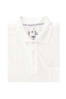 Erkek Giyim - BEYAZ 4X Beden Büyük Beden Polo Yaka Regular Fit Tişört