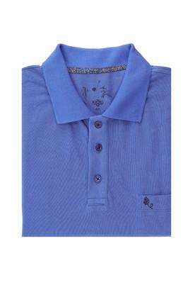 Erkek Giyim - KOYU HAVACI 7X Beden King Size Polo Yaka Regular Fit Tişört