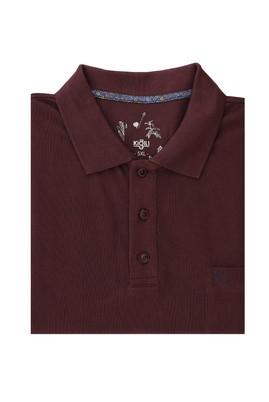 Erkek Giyim - KOYU BORDO 4X Beden King Size Polo Yaka Regular Fit Tişört