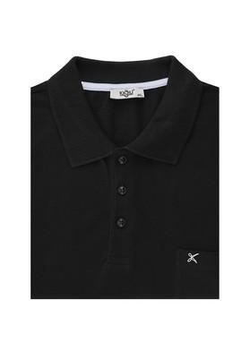 Erkek Giyim - SİYAH 7X Beden Büyük Beden Polo Yaka Tişört