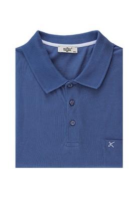 Erkek Giyim - KOYU İNDİGO 7X Beden Büyük Beden Polo Yaka Tişört