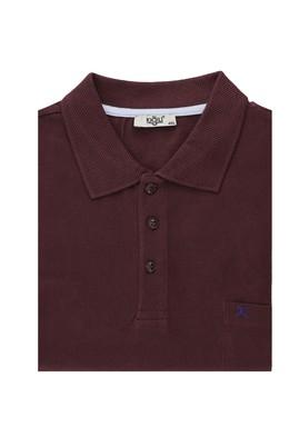 Erkek Giyim - KOYU BORDO 4X Beden Büyük Beden Polo Yaka Tişört