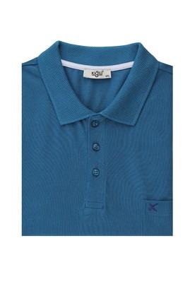 Erkek Giyim - KOYU PETROL 5X Beden Büyük Beden Polo Yaka Tişört