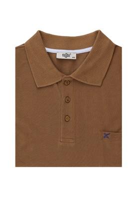 Erkek Giyim - KOYU KAHVE 6X Beden Büyük Beden Polo Yaka Tişört