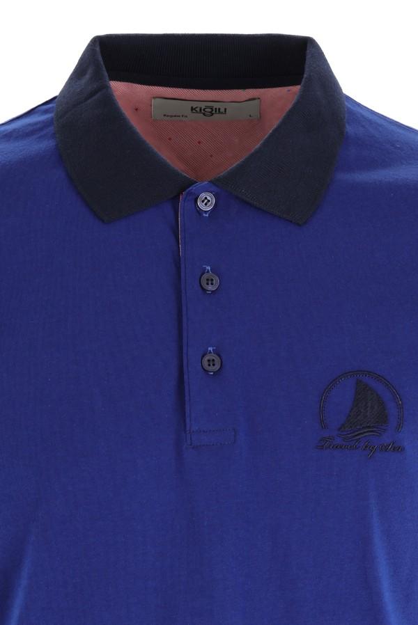 Polo Yaka Slim Fit Desenli Tişört