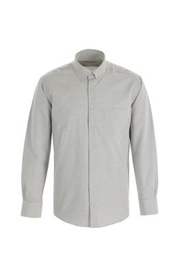 Erkek Giyim - SU YEŞİLİ 3X Beden Uzun Kol Regular Fit Kareli Gömlek