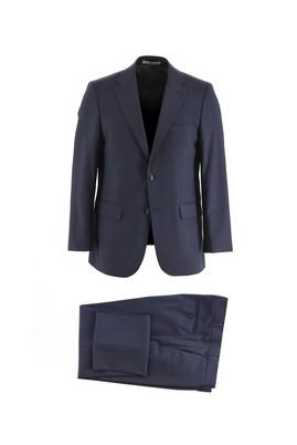 Erkek Giyim - KOYU LACİVERT 64 Beden Klasik Yünlü Takım Elbise