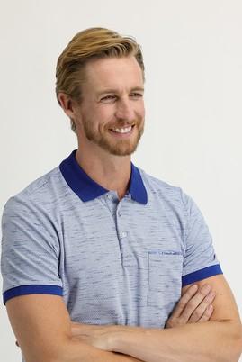 Erkek Giyim - MAVİ L Beden Polo Yaka Slim Fit Tişört