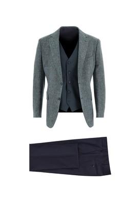 Erkek Giyim - KOYU YEŞİL 48 Beden Regular Fit Kombinli Takım Elbise