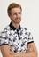 BEYAZ  Polo Yaka Süper Slim Fit Baskılı Tişört