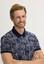 ORTA LACİVERT  Polo Yaka Regular Fit Baskılı Tişört