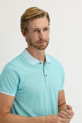 Erkek Giyim - MİNT YEŞİLİ XL Beden Polo Yaka Slim Fit Tişört