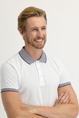 Erkek Giyim - BEYAZ XL Beden Polo Yaka Slim Fit Tişört