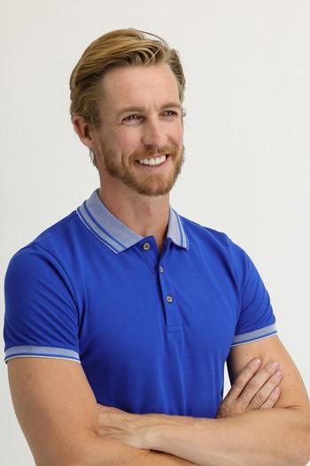 Erkek Giyim - Polo Yaka Slim Fit Tişört