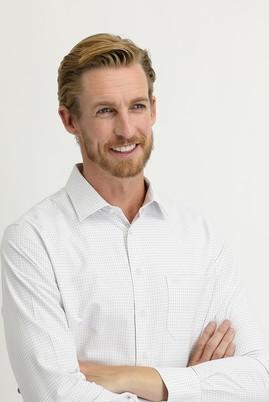 Erkek Giyim - AÇIK BORDO 3X Beden Uzun Kol Regular Fit Kareli Gömlek