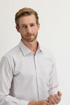 Erkek Giyim - MERCAN KIRMIZI 4X Beden Uzun Kol Regular Fit Kareli Gömlek