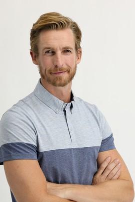 Erkek Giyim - İNDİGO XL Beden Polo Yaka Regular Fit Desenli Tişört
