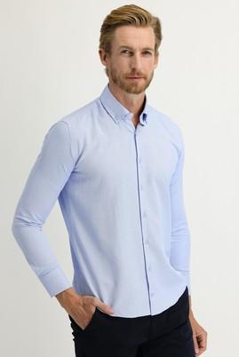 Erkek Giyim - AÇIK MAVİ L Beden Uzun Kol Slim Fit Gömlek
