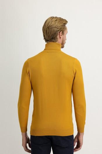 Erkek Giyim - Balıkçı Yaka Slim Fit Triko Kazak