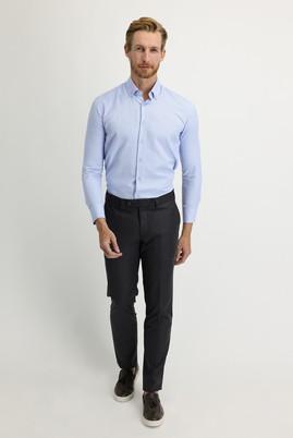 Erkek Giyim - ORTA ANTRASİT 46 Beden Slim Fit Klasik Pantolon