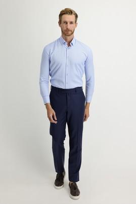 Erkek Giyim - ORTA LACİVERT 62 Beden Yünlü Klasik Pantolon