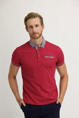Erkek Giyim - AÇIK BORDO XL Beden Polo Yaka Slim Fit Tişört
