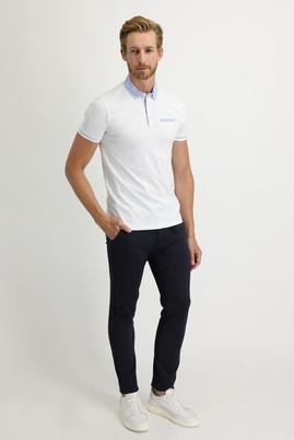 Erkek Giyim - KOYU LACİVERT 50 Beden Slim Fit Beli Lastikli İpli Spor Pantolon