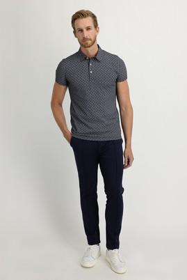 Erkek Giyim - KOYU LACİVERT 46 Beden Slim Fit Beli Lastikli İpli Spor Pantolon