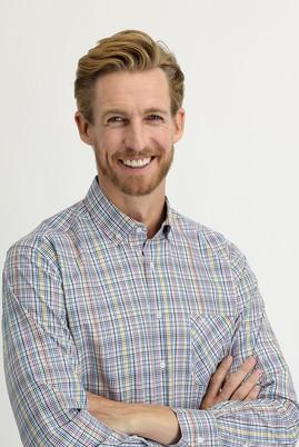 Erkek Giyim - HARDAL L Beden Uzun Kol Regular Fit Ekose Gömlek